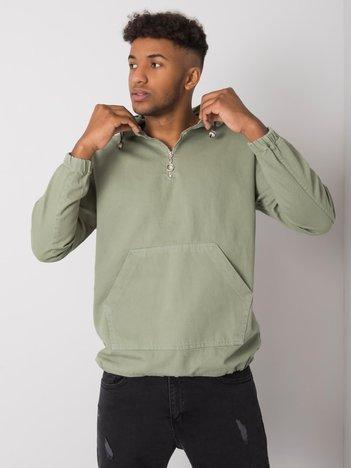 Zielona męska bluza z kapturem Issac