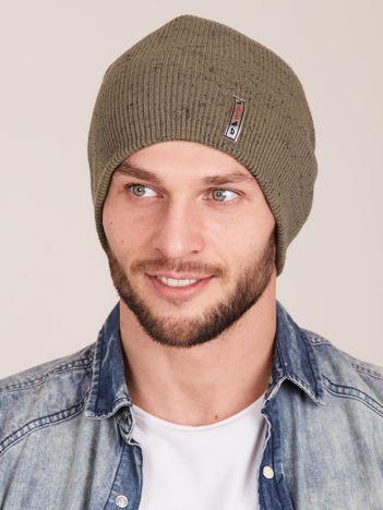 Zielona męska czapka beanie