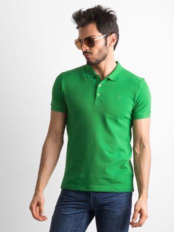Zielona męska koszulka polo