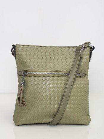 Zielona pleciona torebka