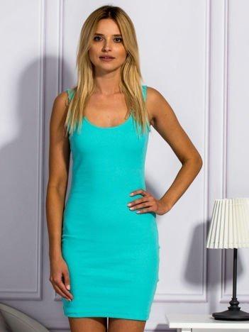 Zielona prążkowana sukienka