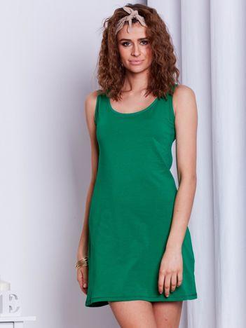 Zielona sukienka cut out
