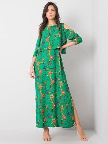 Zielona sukienka maxi Peruggia RUE PARIS