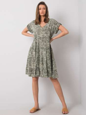 Zielona sukienka na co dzień Maureen