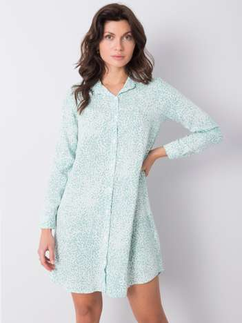 Zielona sukienka we wzory Lorraine