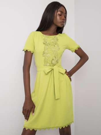 Zielona sukienka z koronką Amberly