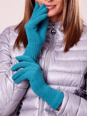 Zielone rękawiczki z długim ściągaczem