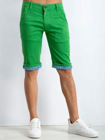 Zielone spodenki męskie Austin
