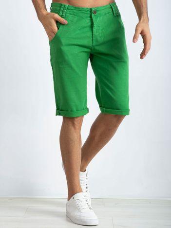 Zielone spodenki męskie Seeing