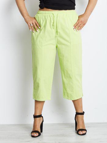 Zielone spodnie plus size Contraction