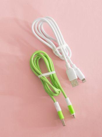 Zielono-białe kable USB do iPHONE iOS 2 sztuki