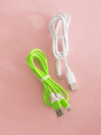 Zielono-białe kable USB do telefonu ANDROID 2 sztuki
