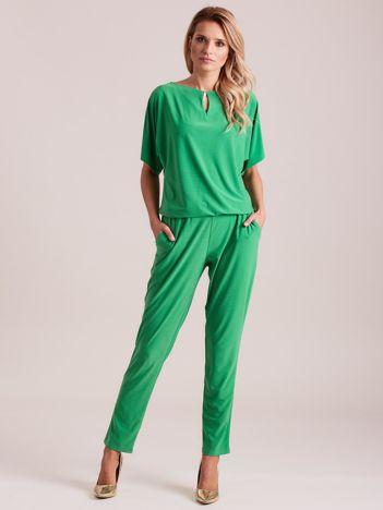 Zielony elegancki kombinezon