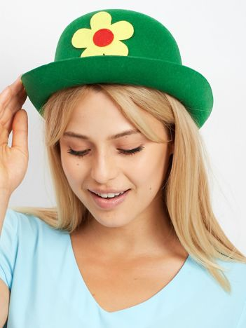 Zielony kapelusz klauna