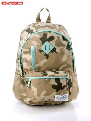 Zielony plecak szkolny z motywem moro