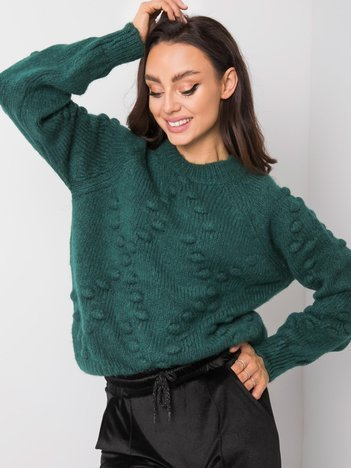 Zielony sweter Charlotte RUE PARIS