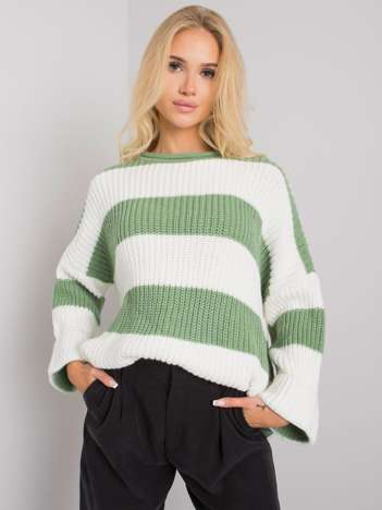 Zielony sweter w paski Bree