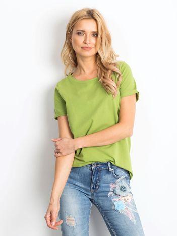 Zielony t-shirt Restricting