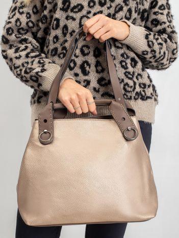 Złota damska torebka city bag