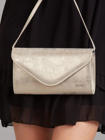 Złota elegancka torebka kopertówka