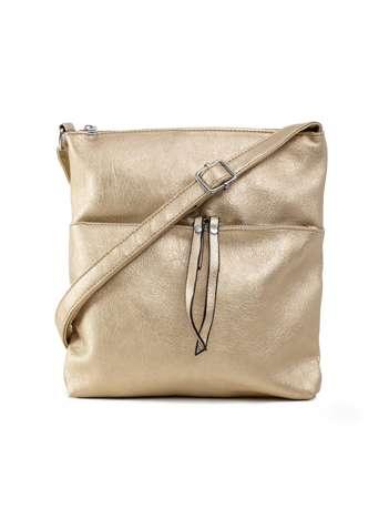 Złota torebka damska ze skóry ekologicznej