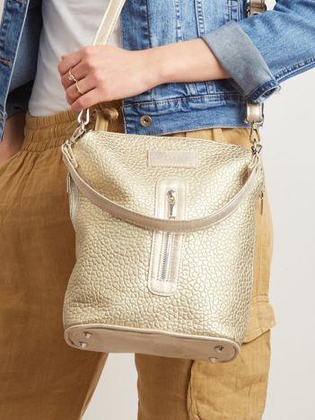 Złota torebka z odpinanym paskiem