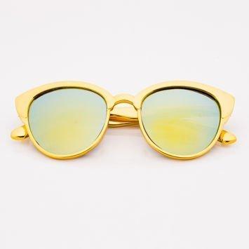Złote Lustrzane Dziecięce Okulary przeciwsłoneczne
