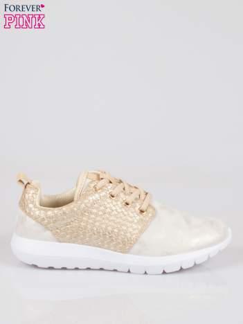 Złote plecione buty sportowe duo Split Up