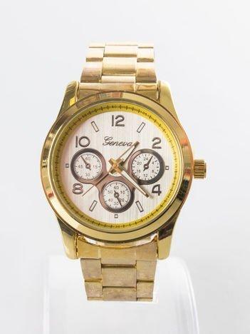 Złoty damski zegarek na bransolecie