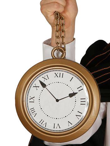 Złoty karnawałowy zegar retro