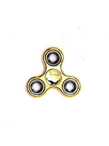 Złoty klasyczny metalowy hand fidget spinner