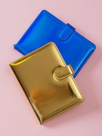 Złoty lustrzany notes