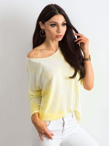 Żółta bluzka damska z długim rękawem