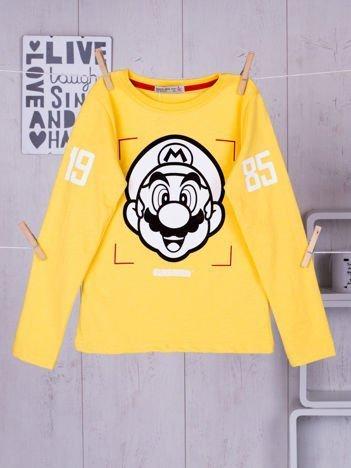 Żółta bluzka dziecięca Super Mario Bros