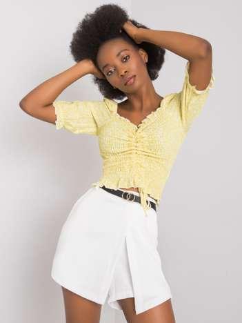 Żółta bluzka we wzory Ayleen RUE PARIS