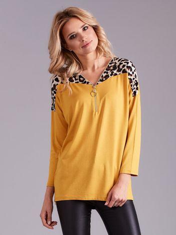 Żółta bluzka z suwakiem