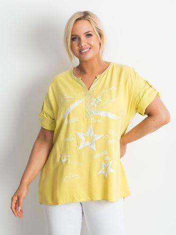 Żółta damska bluzka PLUS SIZE