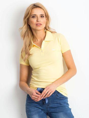 Żółta damska koszulka polo