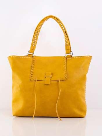 Żółta duża miejska torba