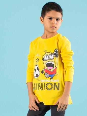 Żółta dziecięca bluzka z nadrukiem MINIONKI