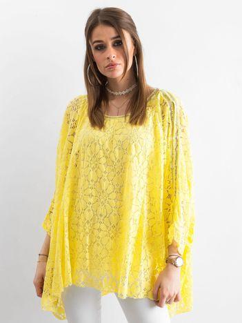 Żółta koronkowa tunika