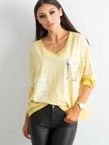 Żółta luźna bluzka damska
