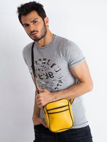 Żółta męska torba listonoszka