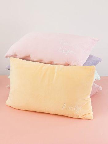 Żółta podłużna poduszka