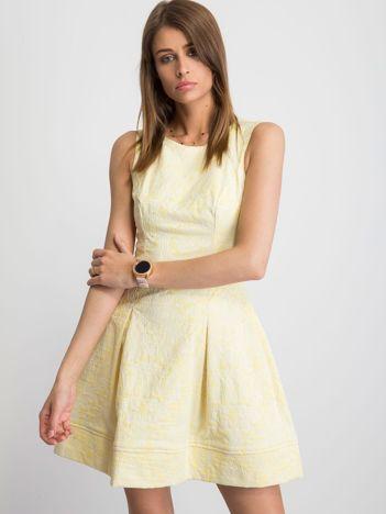 c4b344d85f Żółta sukienka Babydoll