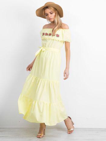 Żółta sukienka Corsica