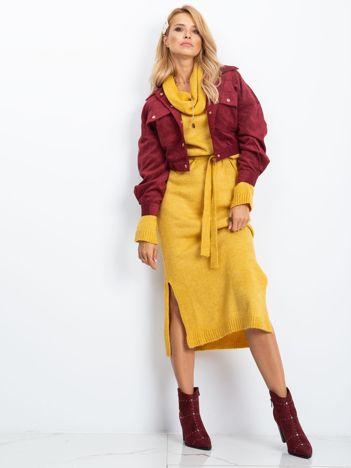 Żółta sukienka Peace