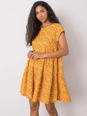 Żółta sukienka oversize Eve STITCH & SOUL
