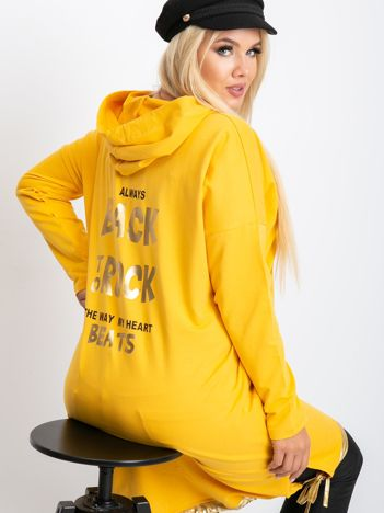 Żółta sukienka plus size Rock