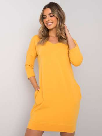 Żółta sukienka z bawełny Abijah